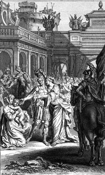 Hector bids farewell to Andromache