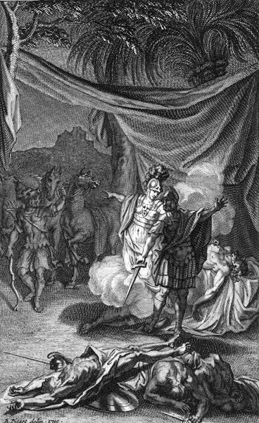 Diomedes kills Rhesus