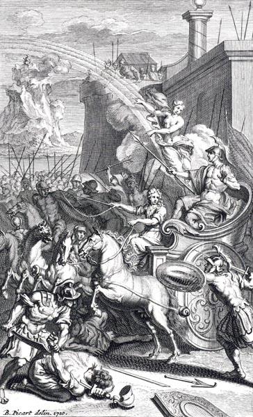 Zeus sends Iris to Hector