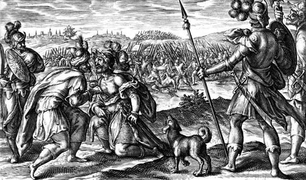 Patroclus tends Eurypylus' wound