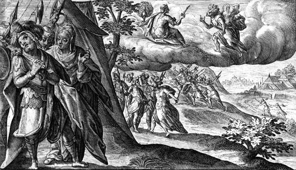 Achilles grieves for Patroclus