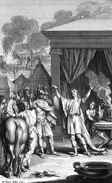 Achilles honours Zeus
