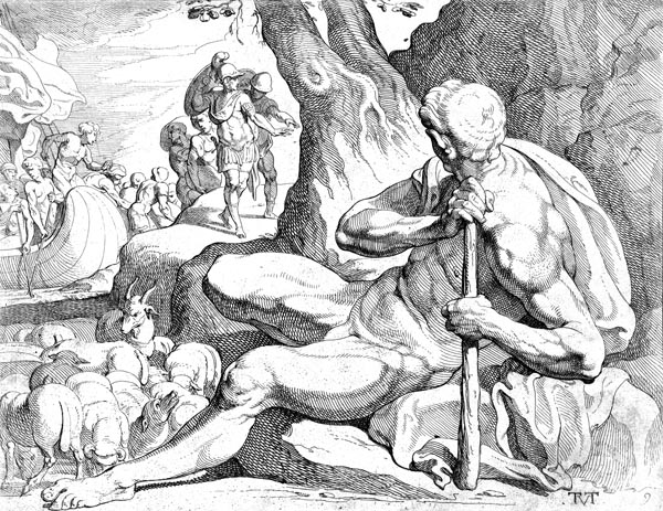 Polyphemus guarding his flock