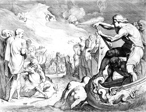 Odysseus sacrifices to the Gods