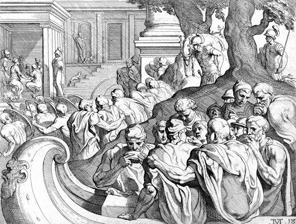 Odysseus on the island of Circe