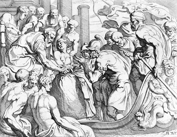 Odysseus receives the Bag of Winds