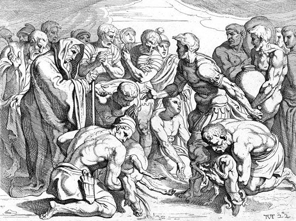 The sacrifice of the sheep