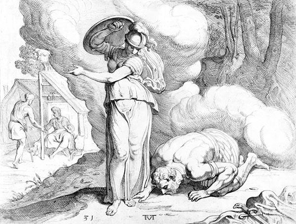 Athene reveals Ithaca to Odysseus