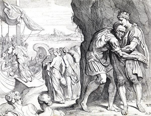 Odysseus bids farewell to Alcinous
