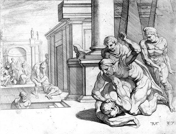 The combat between Odysseus and Irus