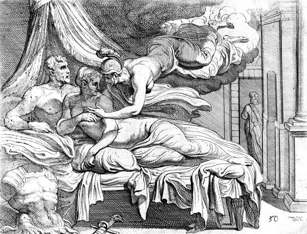 Athene assuages Penelope's doubts'
