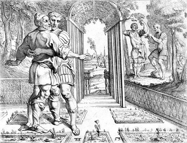 Laertes embraces Odysseus