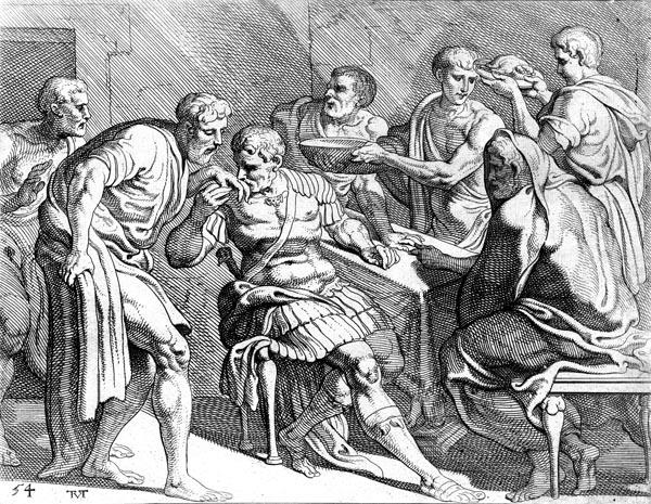 Dolius recognises Odysseus
