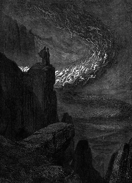 Gustave Doré Illustration - Inferno Canto 5, 51