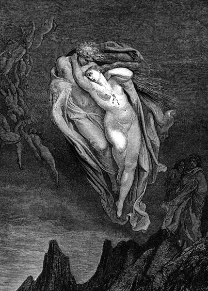 Gustave Doré Illustration - Inferno Canto 5, 53
