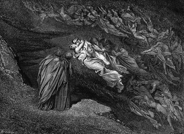 Gustave Doré Illustration - Inferno Canto 5, 57