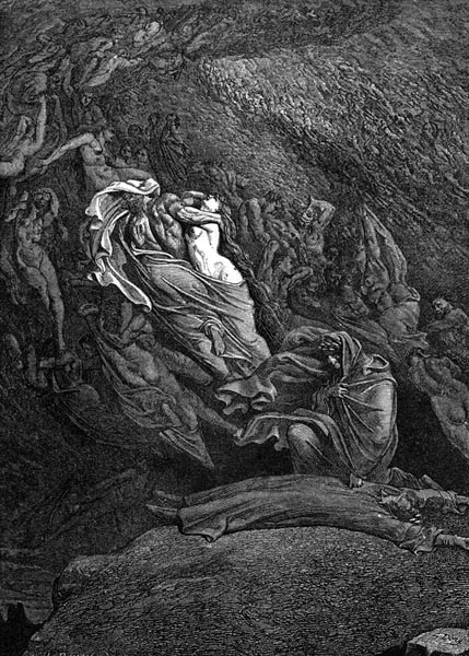 Gustave Doré Illustration - Inferno Canto 5, 63