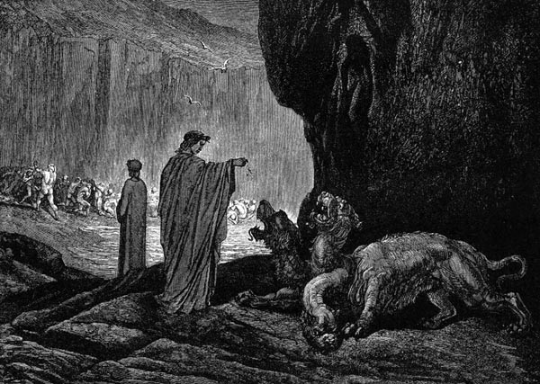 Gustave Doré Illustration - Inferno Canto 6, 67