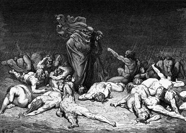Gustave Doré Illustration - Inferno Canto 6, 69