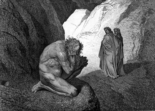 Gustave Doré Illustration - Inferno Canto 7, 75