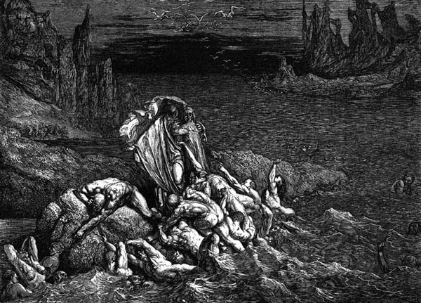 Gustave Doré Illustration - Inferno Canto 7, 83