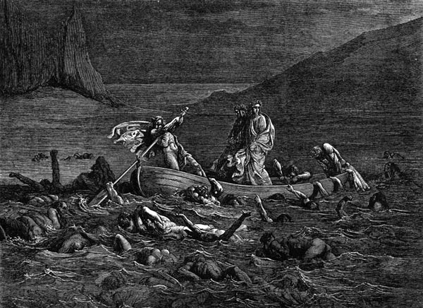 Gustave Doré Illustration - Inferno Canto 8, 87