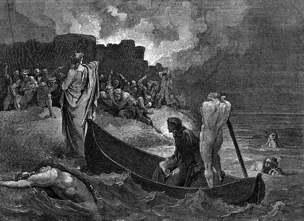 Gustave Doré Illustration - Inferno Canto 8, 93