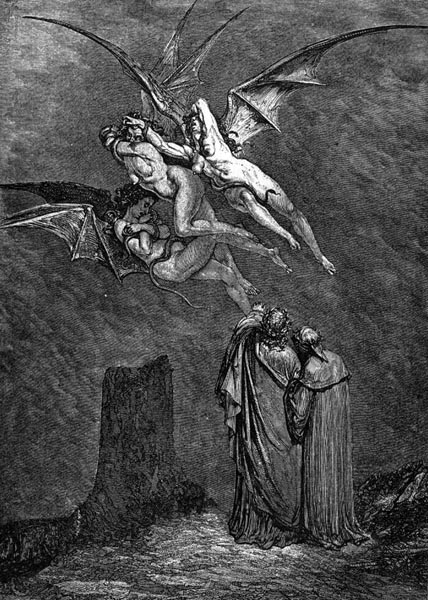 Gustave Doré Illustration - Inferno Canto 9, 97