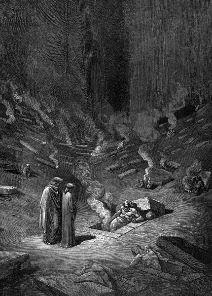 Gustave Doré Illustration - Inferno Canto 9, 105