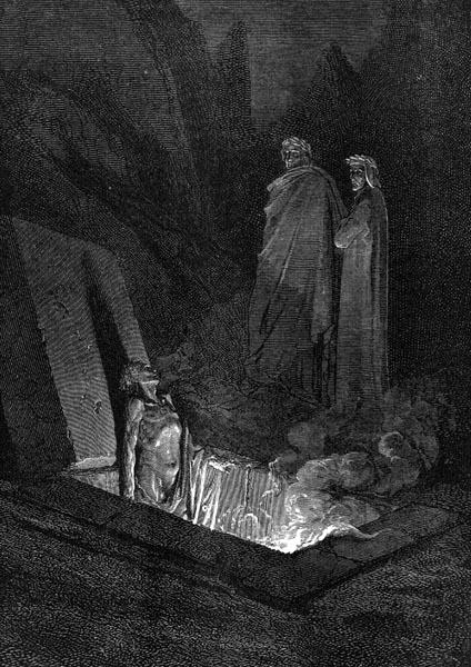 Gustave Doré Illustration - Inferno Canto 10, 109