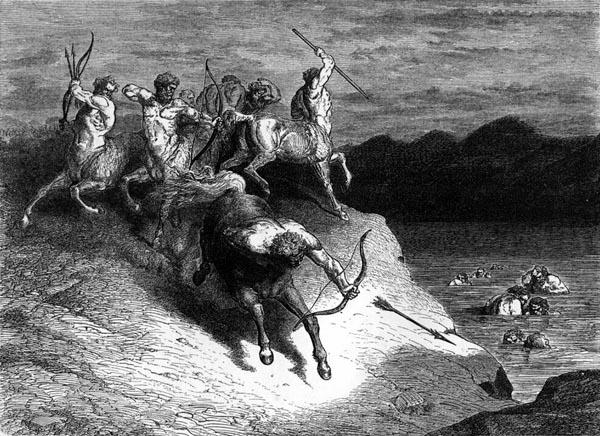 Gustave Doré Illustration - Inferno Canto 12, 129