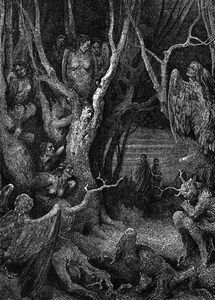 Gustave Doré Illustration - Inferno Canto 13, 135