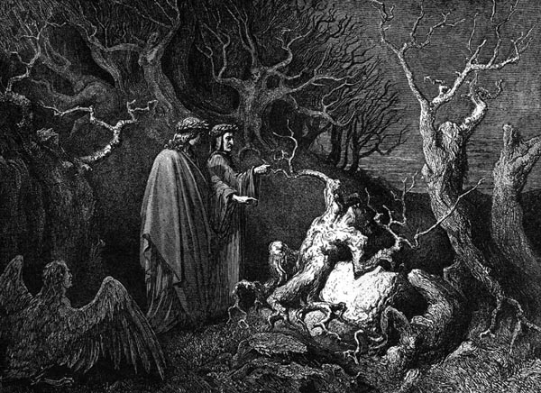 Gustave Doré Illustration - Inferno Canto 13, 137