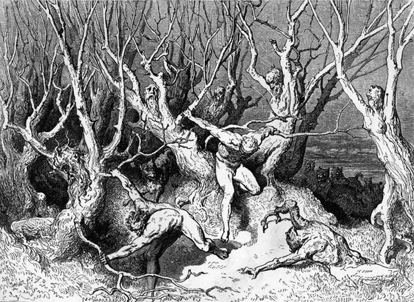Gustave Doré Illustration - Inferno Canto 13, 143