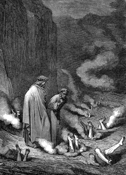 Gustave Doré Illustration - Inferno Canto 19, 187