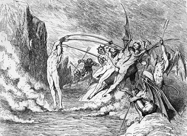 Gustave Doré Illustration - Inferno Canto 21, 201