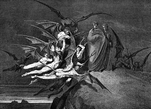 Gustave Doré Illustration - Inferno Canto 21, 205