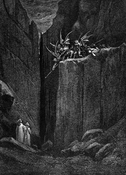 Gustave Doré Illustration - Inferno Canto 23, 219