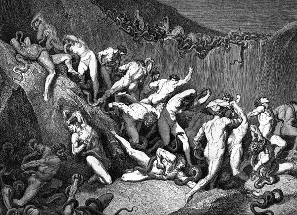 Gustave Doré Illustration - Inferno Canto 24, 233