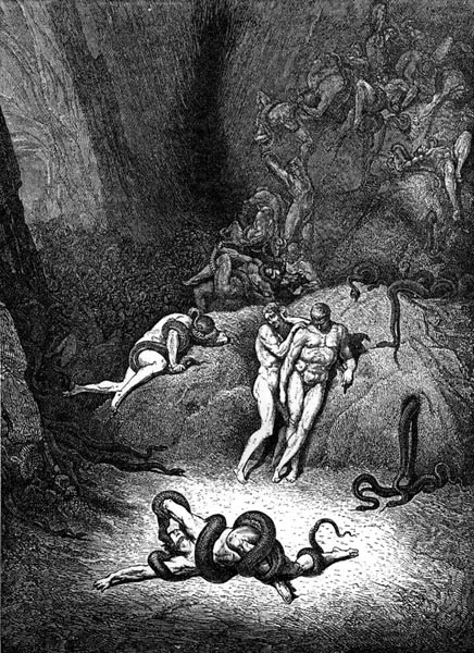 Gustave Doré Illustration - Inferno Canto 25, 239