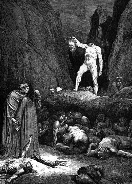 Gustave Doré Illustration - Inferno Canto 28, 265