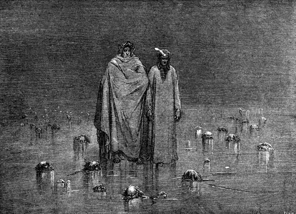 Gustave Doré Illustration - Inferno Canto 32, 301