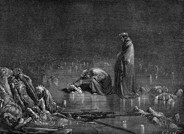 Gustave Doré Illustration - Inferno Canto 32, 305