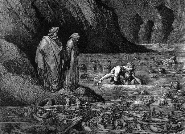 Gustave Doré Illustration - Inferno Canto 32, 309