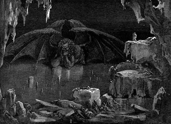 Gustave Doré Illustration - Inferno Canto 34, 323