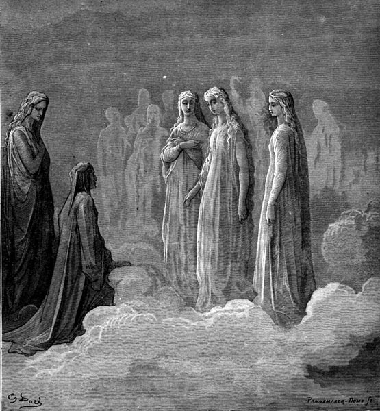 Gustave Doré Illustration - Purgatorio Canto 3, 14