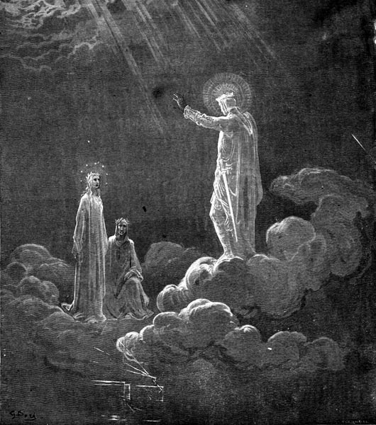 Gustave Doré Illustration - Purgatorio Canto 8, 60