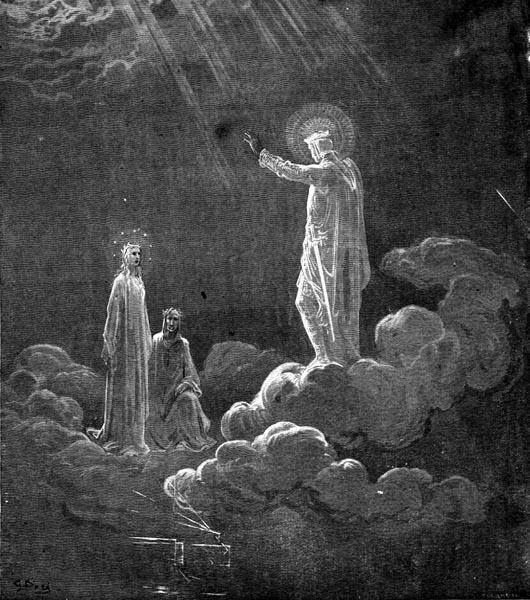 Gustave Doré Illustration - Purgatorio Canto 8, 60