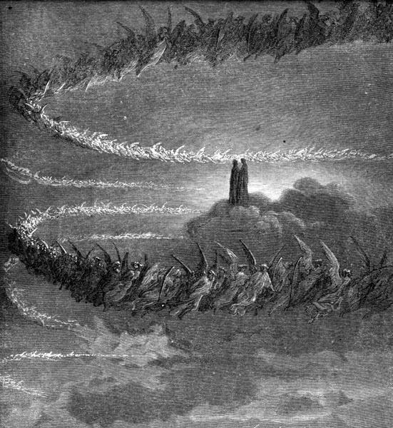 Gustave Doré Illustration - Purgatorio Canto 18, 70