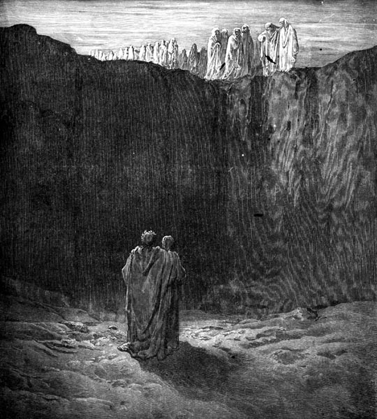 Gustave Doré Illustration - Purgatorio Canto 3, 50